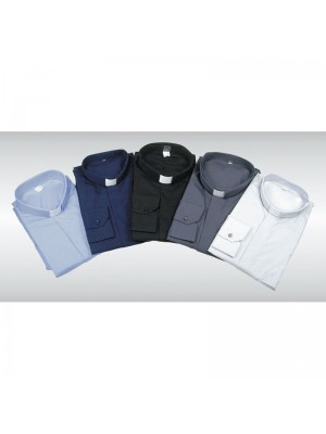 Camicia Clergy 100% Cotone Manica Lunga 10001-ML