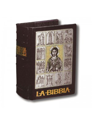 Copri Bibbia in Cuoio ed Argento 5145