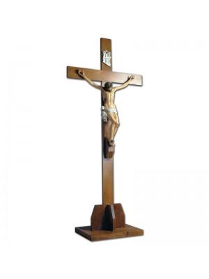 Crocefisso Vetroresina con Croce e Basamento in Legno 11069