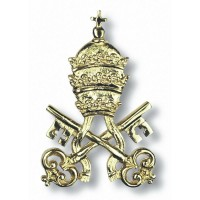 Vatican Coat of Arms in Brass 8026