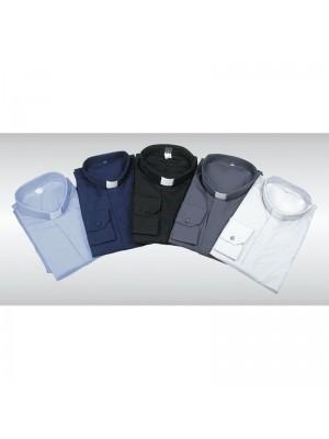 Camicia Clergy Misto Cotone Manica Corta 10000-MM