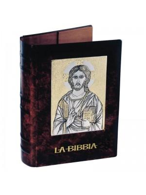 Copri Bibbia in Cuoio ed Argento 5148