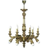 Lámpara Araña en Talla Dorada 5080