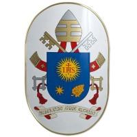 Scudo con stemma di Sua Santità Papa Francesco 9800
