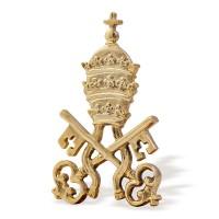 Escudo de Armas Vaticano en Latón 8026