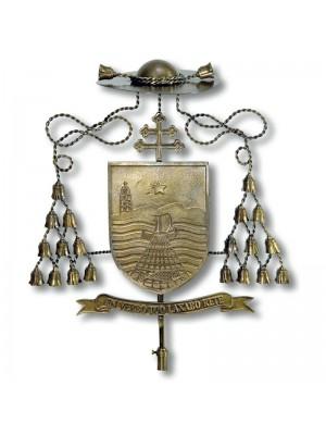 Escudo de Armas de Obispos en Bronce 9799